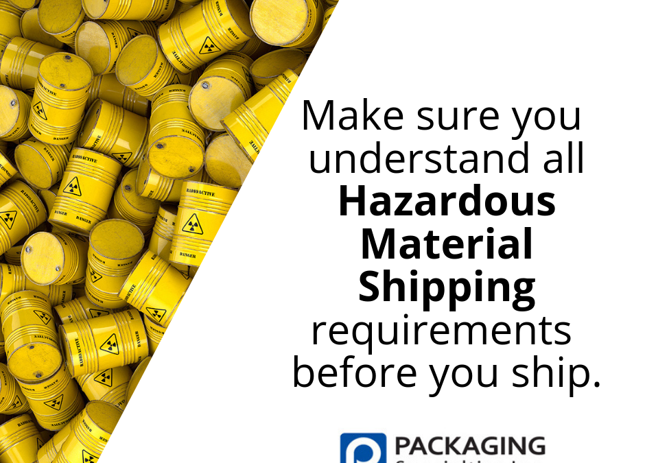 Do you know that there are specific regulations for shipping hazardous materials? Even if it is shipped from your home?