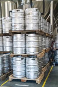 Standard round barrels stacked